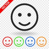 Smile Icon design — Stock Vector