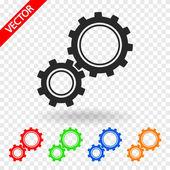 Gears icon — Vector de stock