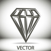 Icono de diamante — Vector de stock
