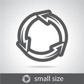 Arrow circle icon — Stock Vector