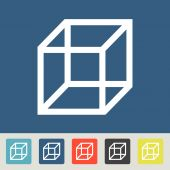 3d cube logo design icon — Wektor stockowy