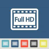 Full HD icons set — Vetorial Stock