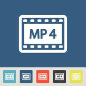 Mp4 Icons set — Vetorial Stock