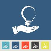 Idea concept Icons set — Vector de stock
