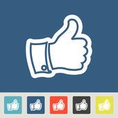 Like icons set — Stock Vector