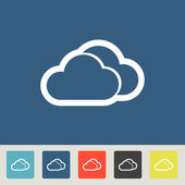 Clouds icons set — Vecteur