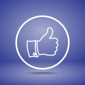 Thumb up icon — Stock Vector