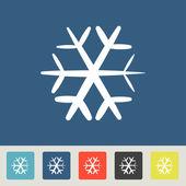 Snowflake Icons set — Stock Vector