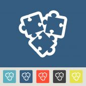 Vector Puzzle icons set — Stock Vector