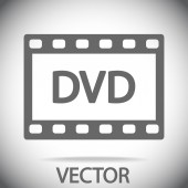 DVD video icon — Stock Vector
