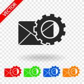 Setting parameters and Envelope Mail icon — Wektor stockowy