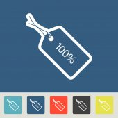 100 percent tag icons set — Vettoriale Stock