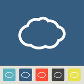 Cloud icons set — Stock Vector