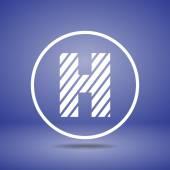Zebra alphabet letter H — Stock Vector