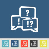 Discusion icons set — Vetorial Stock