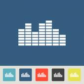 Soundwave music icon set — Stock Vector