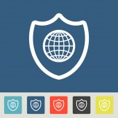 Global safety icons set — 图库矢量图片