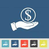 Save money Icons set — Vettoriale Stock