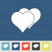 Heart Icon flat design — Stockvektor