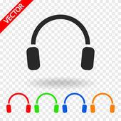 Icono auriculares — Vector de stock