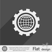 Parâmetros de configuração, o ícone do globo — Vetor de Stock