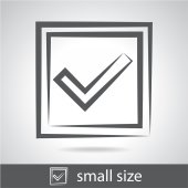 Confirmation sign icon — Stock Vector