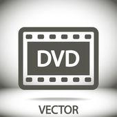DVD video icon — Stock Vector