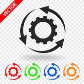 パラメーターの設定、円形矢印アイコン — ストックベクタ