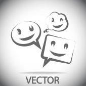 Glimlach pratende zeepbel pictogram — Stockvector
