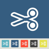 Scissor Icons set — Stock Vector
