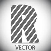 Zebra alphabet letter R — Cтоковый вектор
