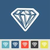 Diamond icons set — Stock Vector