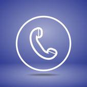 Telefone, ícone plana — Vetor de Stock