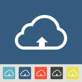 Wireless upload on cloud icons set — Stock Vector