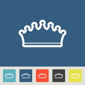 Crown vector icons set — Stock Vector