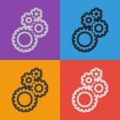 Icona dell'ingranaggio. Stile di design piatto — Vettoriale Stock