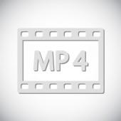MP4 Video icon design — Stock Vector