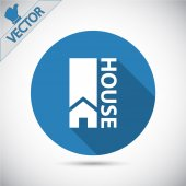 Flat House icon. — Stock Vector