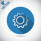 Engranaje icono ilustración. — Vector de stock