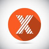 Zebra alphabet letter X — Stock Vector