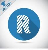 Zebra alphabet letter R — Stock Vector
