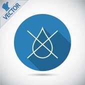 Water drop forbidden icon — Stock Vector