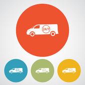 Icona di carico. Servizio di consegna — Vettoriale Stock