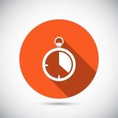 Stopwatch icon design — Stock Vector