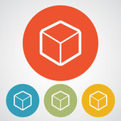 3d cube logo design icon — Vector de stock