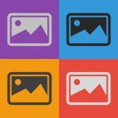 Icondesign Fotografie — Stockvektor