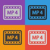MP 4 video icon — Stock Vector