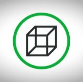 Cube logo design icon — Stock Vector