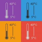 Thermometer icon set — Stock Vector