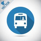 Bus icon design — ストックベクタ